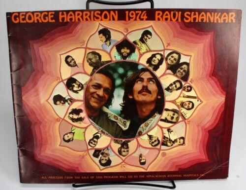 GEORGE HARRISON - 1974 GEORGE HARRISON - RAVI SHANKAR TOUR BOOK.