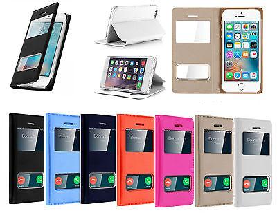 Coque iPhone 7 cover flip double fenêtre, étui, housse pour iphone 7