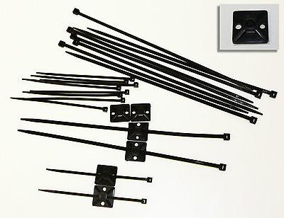 Klebesockel 19x19mm mit Kabelbinder SCHWARZ  UV-Beständig gebraucht kaufen  Mönchengladbach