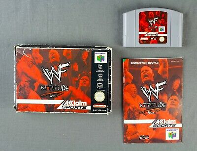 WWF ATTITUDE GET IT FOR N64 NINTENDO 64 - COMPLETE