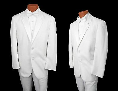 Formale Tuxedo Jacket (Classic White Tuxedo Dinner Jacket 2 Button Notch Lapel Prom Suit Spring Formal)