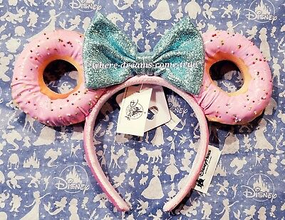 Disney Parks Foodie Minnie Mouse Glitter Bow Sprinkle Donut Ears Headband (NEW)](Glitter Sprinkles)