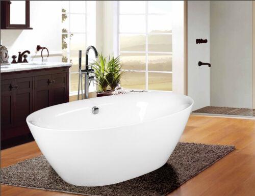 Empava 71 in. Freestanding Bathtub Acrylic Soaking SPA Stand Alone Tub FT1503