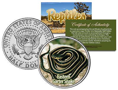 Eastern Garter Snake  Collectible Reptiles  Jfk Half Dollar Colorized U S  Coin