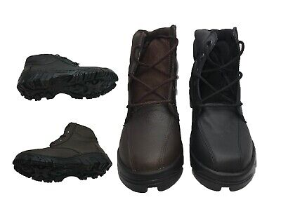 MEN'S GENUINE COWHIDE LEATHER LACES BROWN/BLACK WORK BOOTS BEST QUALITY (Best Black Work Shoes)