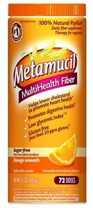 Metamucil Smooth Texture Sugar-Free Orange 72 Each