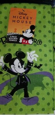 Disney Mickey Mouse Halloween Kitchen Towels (2) NWT