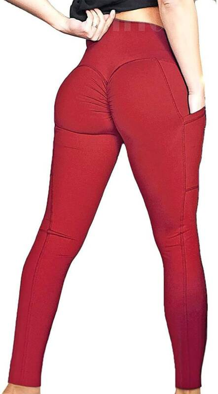 DE Damen Push up Stretch Leggings Yoga Gym Fitnesshose Sport Jogginghose Leggins