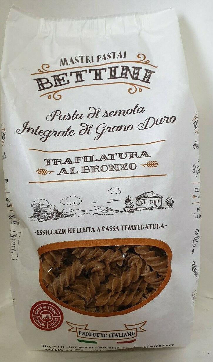 VOLLKORN BETTlNl Pasta:Vollkorn Fusilli integrale Nudeln Gabelfreundlich 10x500g