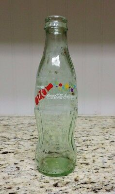 2006 COCA-COLA ENTERPRISES 20th Anniv. 8oz. Green Glass Commemorative Bottle