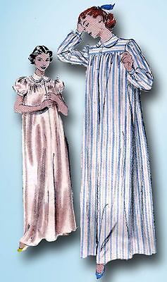 1950s Vintage Butterick Sewing Pattern 6315 Misses Nightgown & Bedjacket Sz 36 B