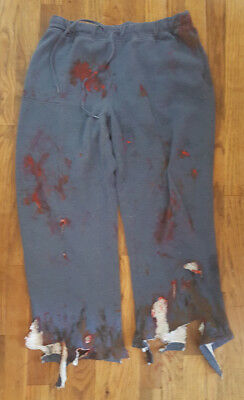 Gory Hand Painted Zombie Sweats Costume Size Large Short OOAK - Gory Costumes
