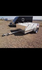 Small enclosed trailer with plywood rack