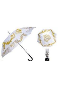 Versace Parfums Medusa Executive Large Umbrella White & Gold