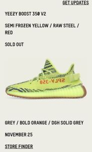 "Wanting to buy Yeezy ""Semi frozen yellow"" SIZE 9"