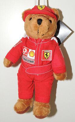 Ferrari Formel 1 Fanartikel Maskottchen Plüsch Bär Teddy  -  Neu ca.18cm groß