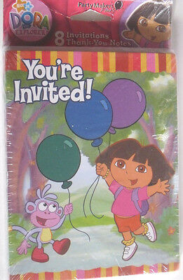 Dora Theme Party (BIRTHDAY PARTY INVITATIONS KID DORA EXPLORER THEME CARDS 8 PACK C MY OTHER)