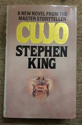 Stephen King Cujo hardback 1982 1st of 1st UK
