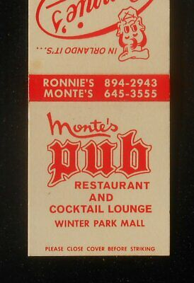 1960s Monte's Pub Restaurant Winter Park Mall Ronnie's Orlando Winter Park FL (Monte Mall)