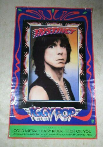 Vintage Original 1988 Iggy Pop Instinct Advertising Poster