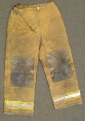 32x30 Globe Tan Firefighter Pants Turnout Bunker Fire Gear P071