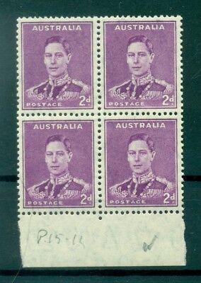 RE GIORGIO VI - KING GEORGE VI AUSTRALIA 1937/1949 Common Stamp 2d Purple Block