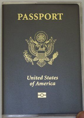 USA Quality Fast Ship Passport Matte Clear Vinyl Cover Protector Holder