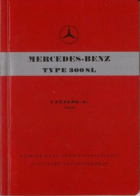 Mercedes Benz 300 SL Gullwing Coupe 1956 Original Multilingual Spare Parts List