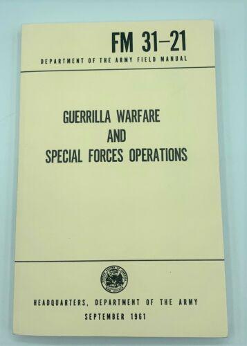 FM31-21 GUERRILLA Warfare SPECIAL OPERATIONS US Army Field Manual 1961 Training