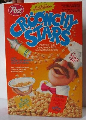 Croonchy Stars Cereal Box 1989 The Muppets Swedish Chef Post  Swedish Post Box