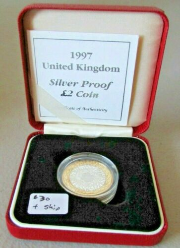 1997 United Kingdom Silver Proof 2 Pounds Coin - Royal Mint