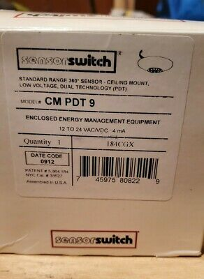 Aculty Controls Cm Pdt 9 R Sensor Switch 24v - New