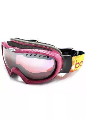 BOLLE - SIMMER women's Premium Snow Ski Goggles Rasberry/ Vermillon Mirror (Bolle Womens Ski Goggles)