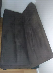 3 seater futon in darkbrown suede Muswellbrook Muswellbrook Area Preview