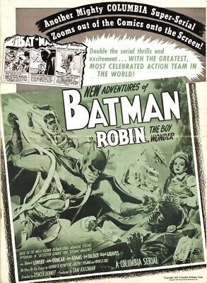 Batman & Robin - Classic Movie Cliffhanger Serial DVD Robert Lowery