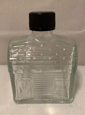 VINTAGE GLASS LOG CABIN MAPLE SYRUP ORIGINAL LID BOTTLE JAR Log Cabin Maple Syrup