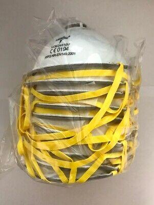10x MEDILINE FFP3 Respirator Atemschutzmaske mit Ventil