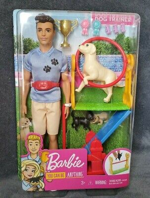 Barbie You Can Be Anything Ken Doll - Dog Trainer Playset Fast Shipping