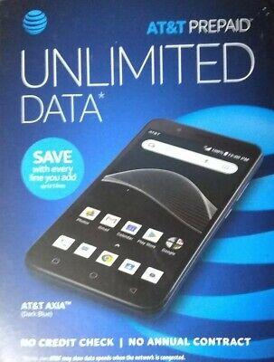 Prepaid AT&T Axia Dark Blue Cell Phone 16GB  Model 6557B