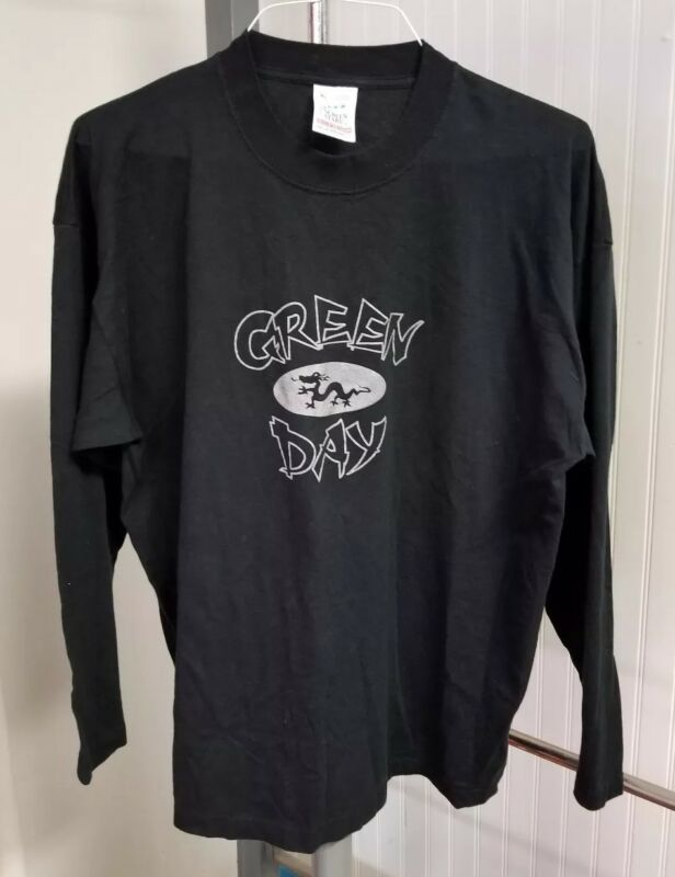 "Green Day 2000 Concert Tour ""Warning"" Album Long Sleeve Shirt Men XL Dragon Logo"