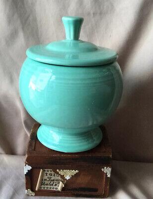 Fiestaware Individual Sugar Bowl With Lid Fiesta Green Retired 7 Oz Vintage