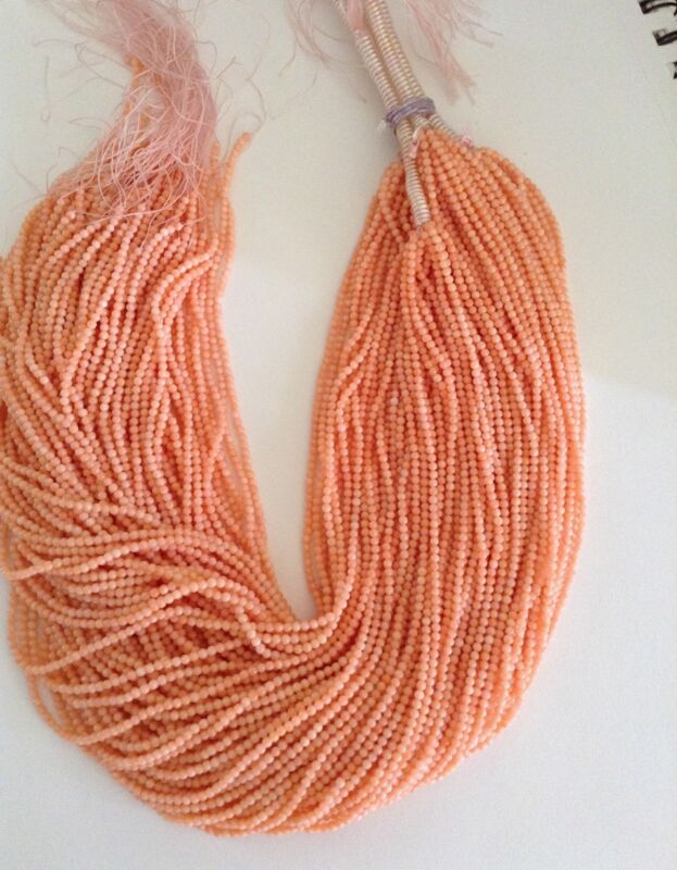 Angel Skin Pink Coral 2-2.5mm Round Beads for Jewelry making sold per 16""