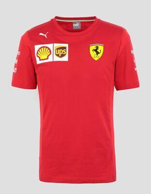 NEW 2019 Scuderia FERRARI F1 Sebastian VETTEL Driver T Shirt Tee MENS - OFFICIAL
