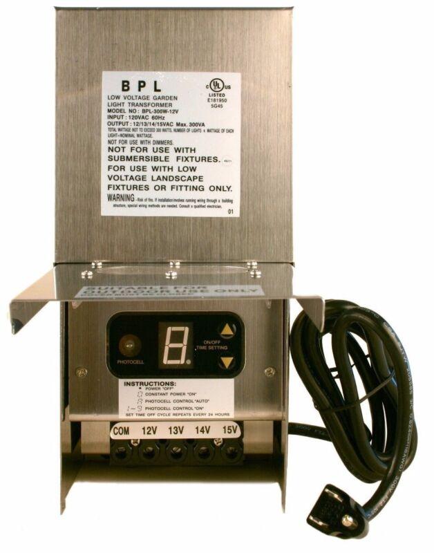 60-150-300-600 Watt Low Voltage Outdoor Landscape Lighting Transformer 12-15V AC