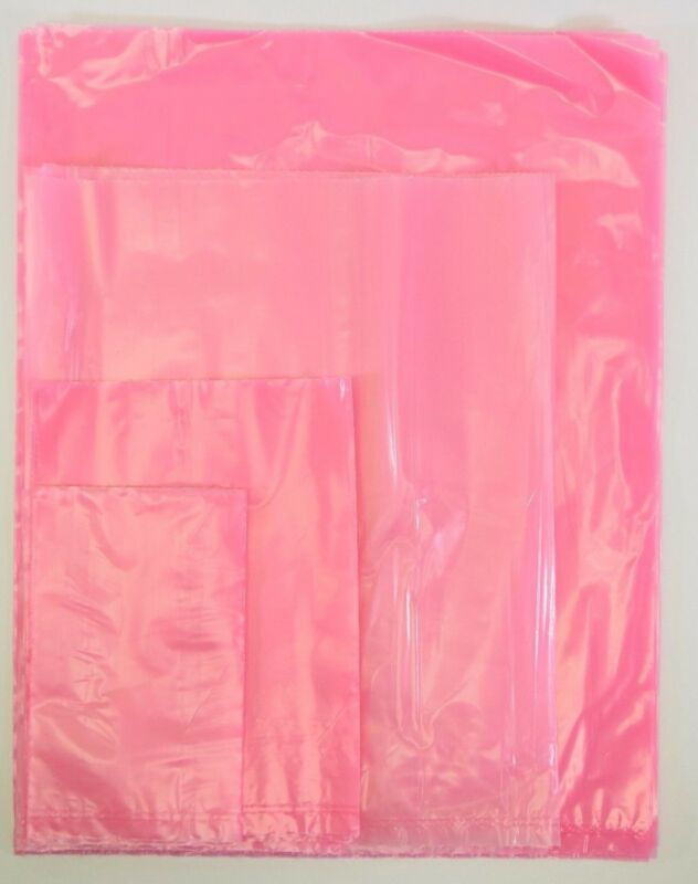 Pink Open Ended Anti-Static Bag AntiStatic Poly Bags 4mil 2mil Electronic