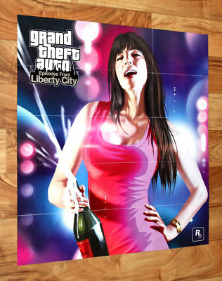 Grand Theft Auto Episodes from Liberty City GTA Poster Map 57x54cm PS3 Xbox