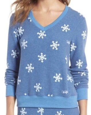 NWT Wildfox Winter Wonderland Jumper Sweater Sweatshirt Blue White Snowflakes XS - Winter Wonderland Blue
