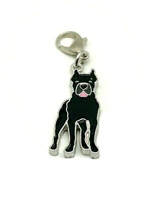 Presa Canario Dog Collar Charm Keyring Tag UK