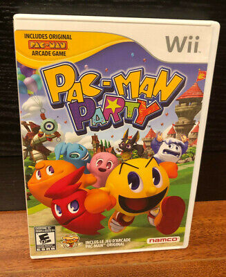 Pac-Man Party (Nintendo Wii, 2010) CIB Complete FREE SHIPPING!