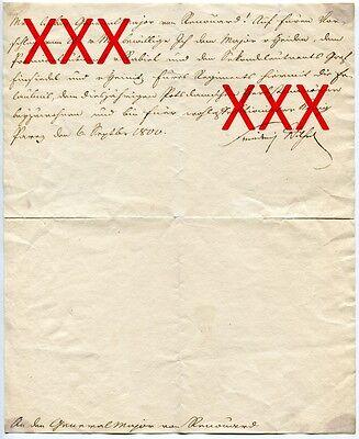FRIEDRICH WILHELM III., orig. Autograph, 1800, Brief an Generalmajor v. Renouard